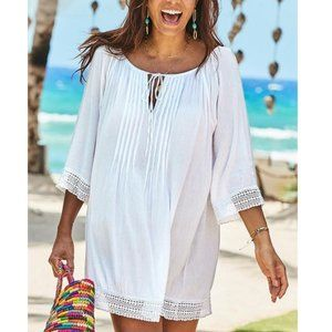 Swimsuits For All Giana Crochet Trim Coverup Tunic
